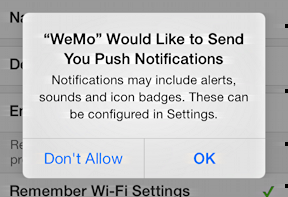 push notifications request