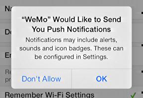 push notifications request