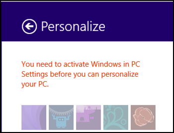 you need to activate windows 8