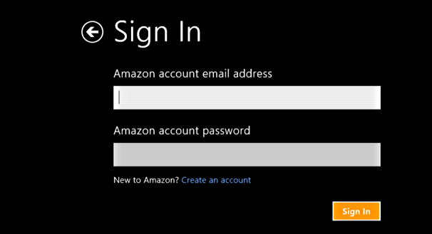 sign in to your amazon account