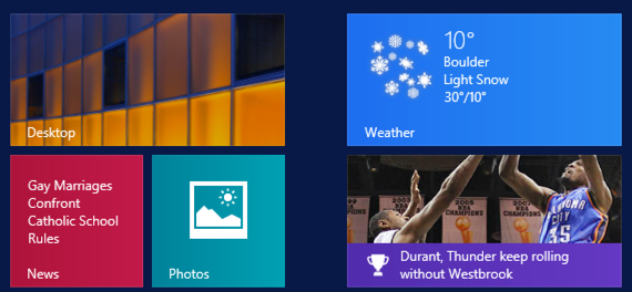 live updating weather tile