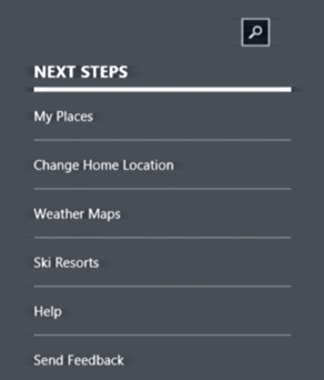 how to change weather app location win 10