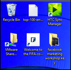 shortcuts and files on desktop windows 8 win8