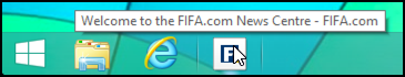 reminder of taskbar bookmark web site url