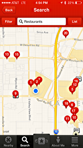 yelp restaurants on map