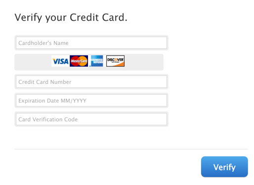 enter your credit card information. thanks, we're going to steal it and use it