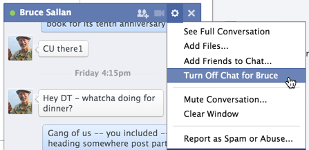 chat window settings and preferences, facebook