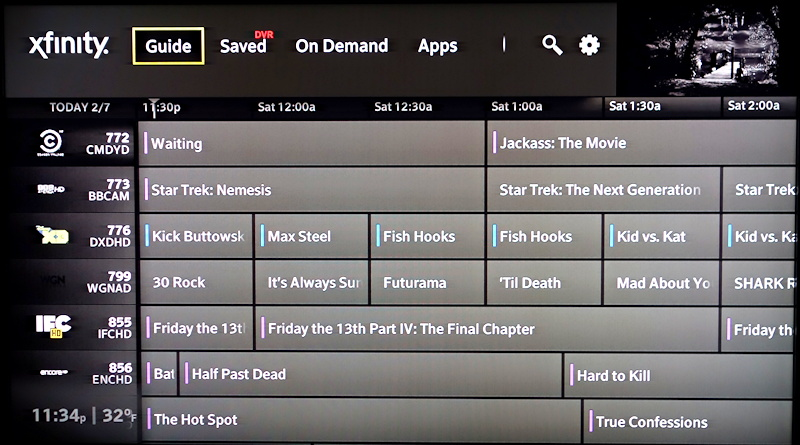 xfinity x1 channel guide