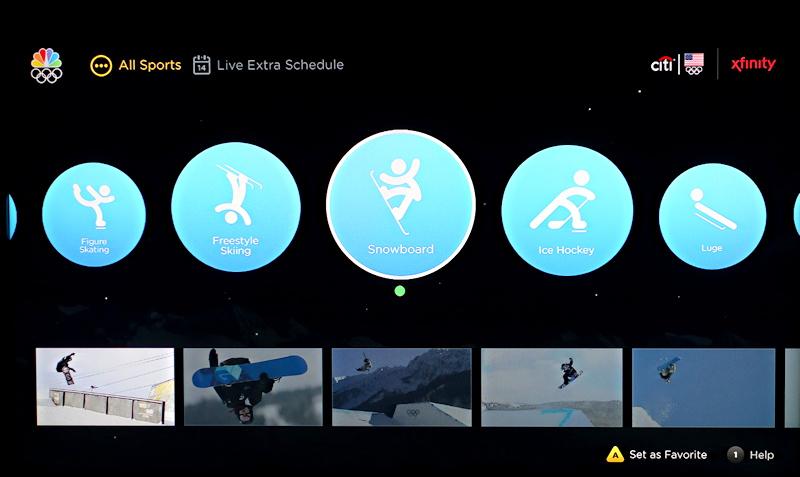 xfinity x1 nbc sports live extra app - sochi 2014 winter olympics