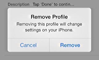 are you sure you want to remove this profile