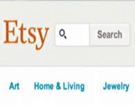 etsy search box