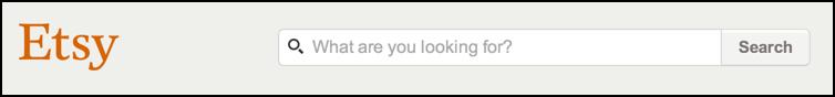 etsy search box - etsy.com