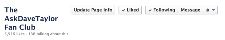 fb biz page with message button