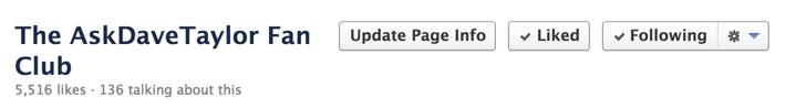 facebook fan page, no messages button