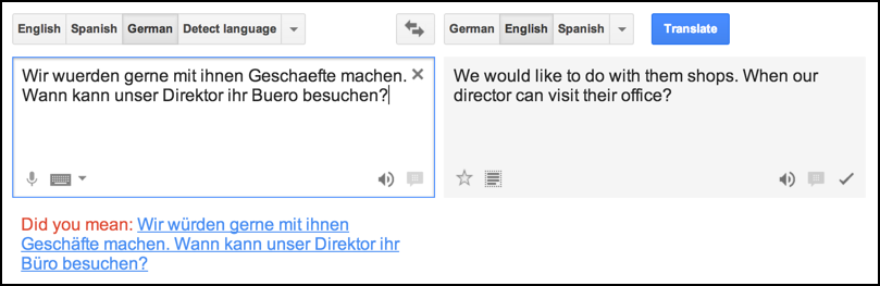 google translate translated