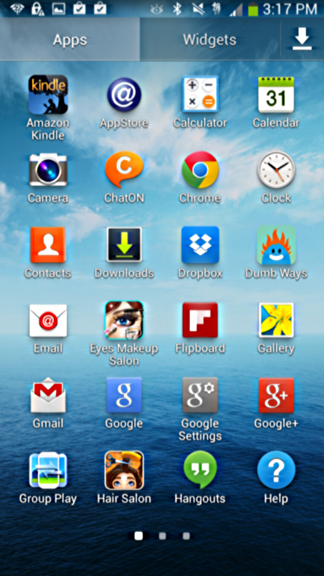 kindle app added to android home screen galaxy mega
