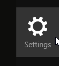 windows charm bar - settings icon