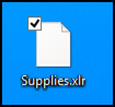 .XLR data file on Windows 8: unknown file type icon