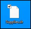 .XLR data file on Windows 8: unknown file type icon