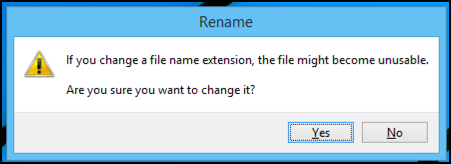 change filename suffix?