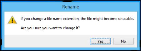 change filename suffix?