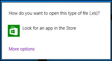 can't open xls spreadsheet files