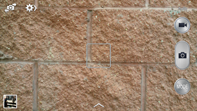 a beautiful brick wall through the android camera app