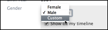 male / female / custom / other