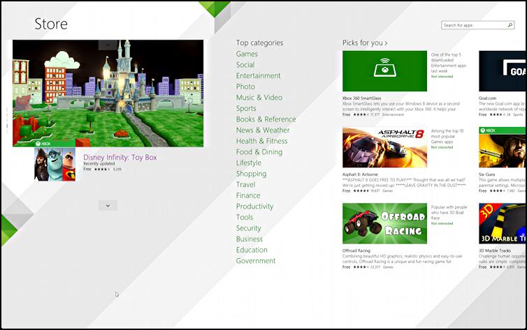 Windows 8 software app store microsoft