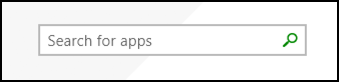 windows app store search box