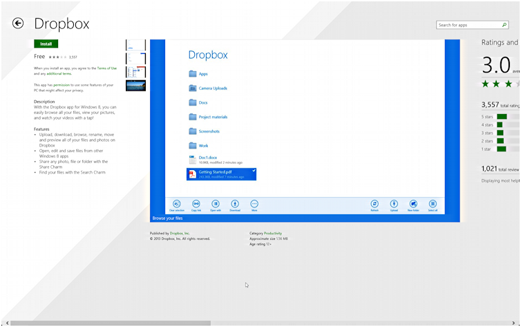 dropbox for windows 8