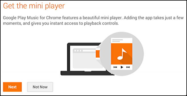 you need to install google play mini player