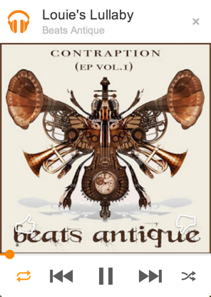 mini player for google play music with beats antique