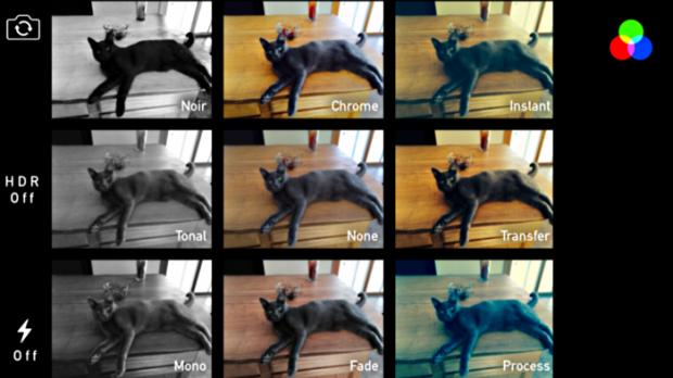 eight filters in ios 7 iphone ipad camera app