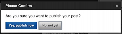 sure you want to publish?