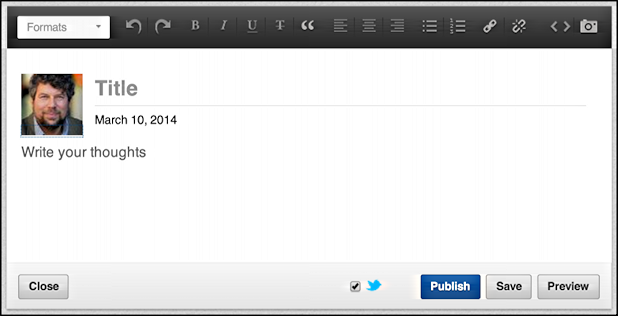 publishing power from linkedin