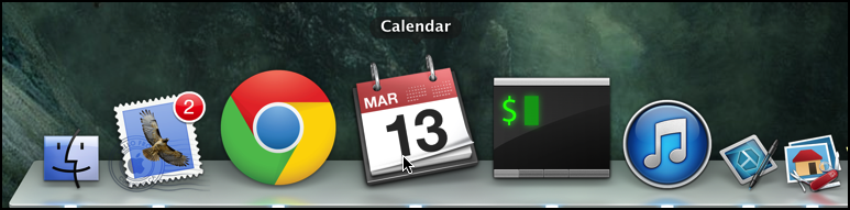magnification full in mac dock