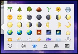 flowers and weather emoji