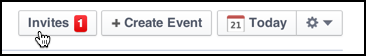 you have an event invite on facebook