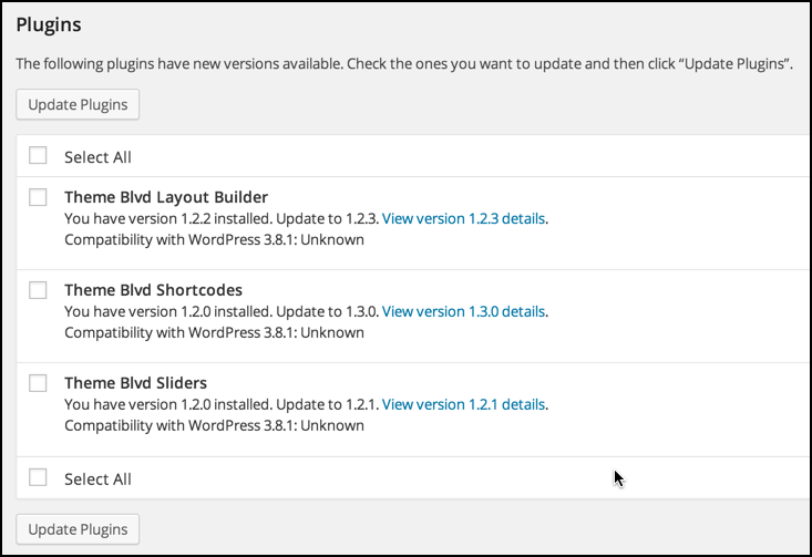 wordpress plugins need updates