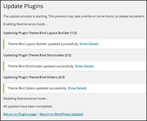 everything updated plugins wordpress wp