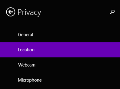disable location info windows 8 win8 privacy