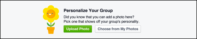personalize your facebook group