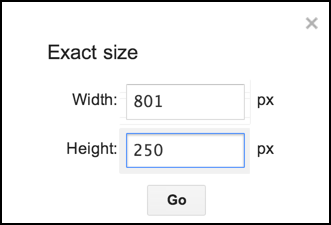 enter exact image dimensions