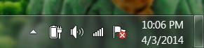 battery icon shortcut on taskbar, win7