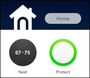nest protect and nest thermostat, web interface home