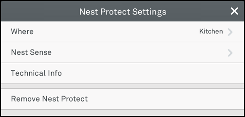 various settings for the nest protect