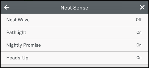 enable or disable main features of nest protect
