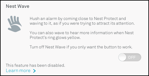 nest wave already disabled