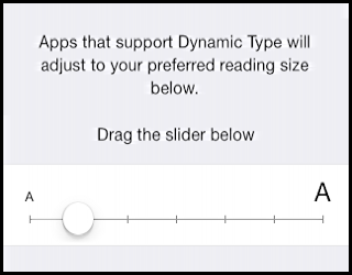 change size of text on iphone ipad ios7